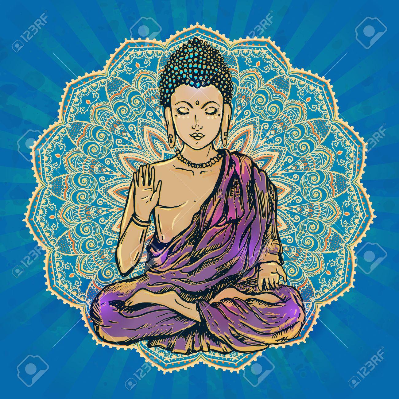 Buddha hand stock photos royalty free business images drawing of a buddha statue art illustration of gautama buddhism religion biocorpaavc Choice Image
