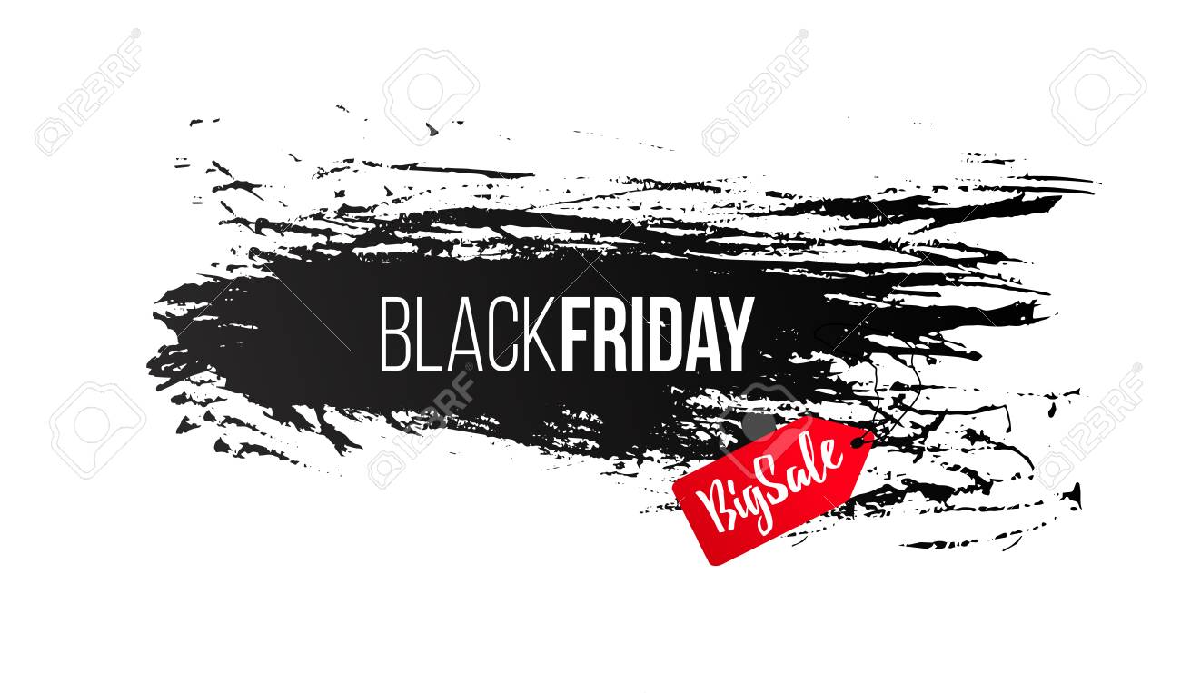 Black Friday Verkauf Design-Vorlage, Banner, Rabatt Für Kleidung ...