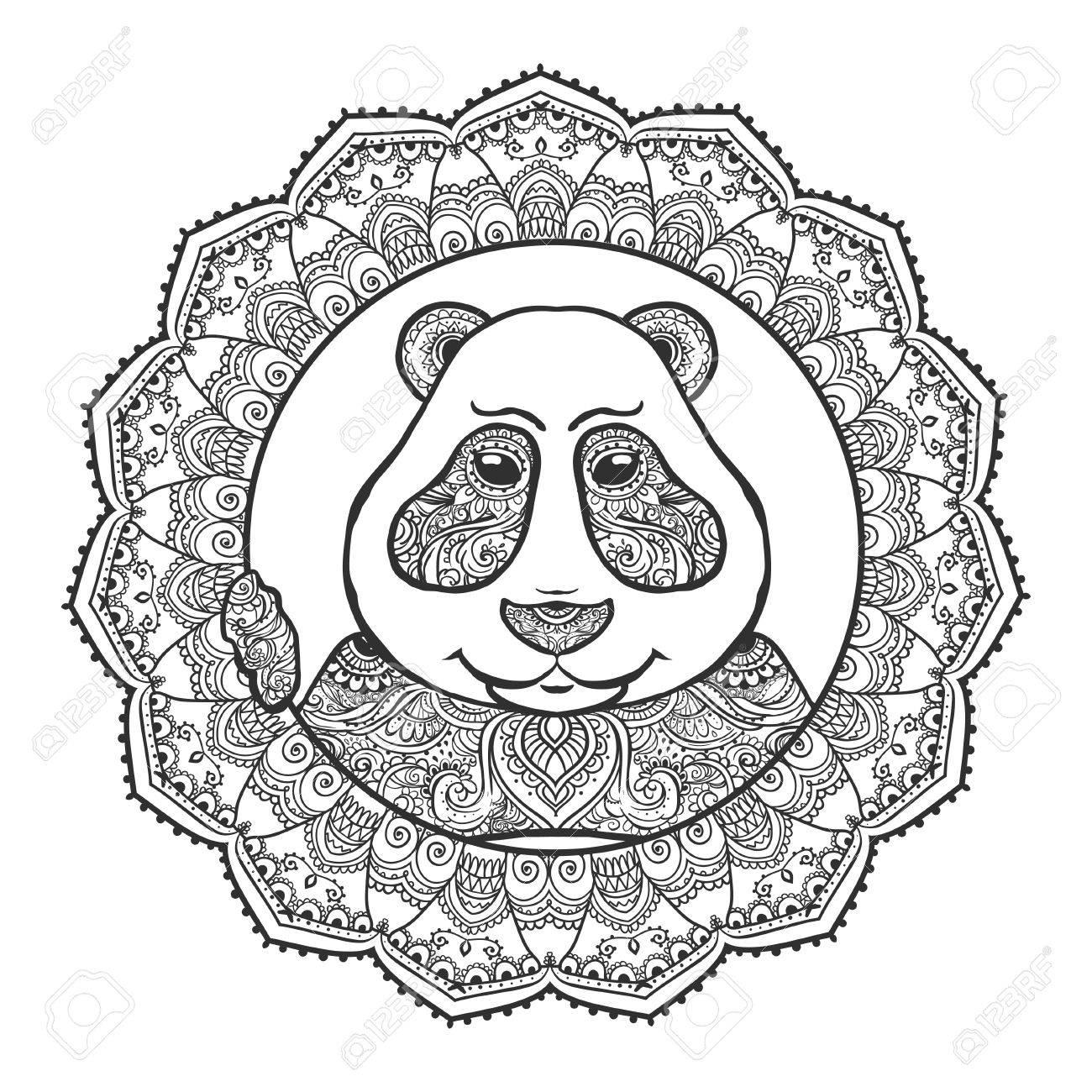 Vector Illustration Panda Imprimer Pour Les Vetements Cartes