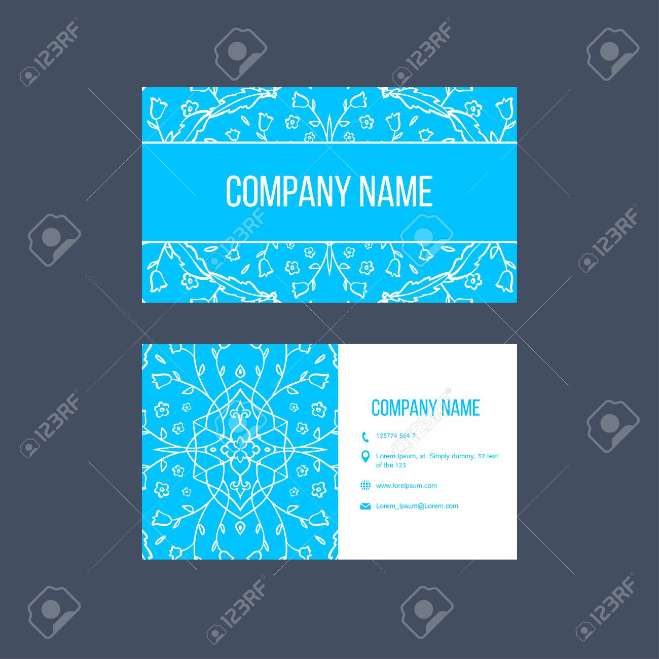 Ornamental flora business cards for cafe restaurant shop print ornamental flora business cards for cafe restaurant shop print vector decorative frame reheart Image collections