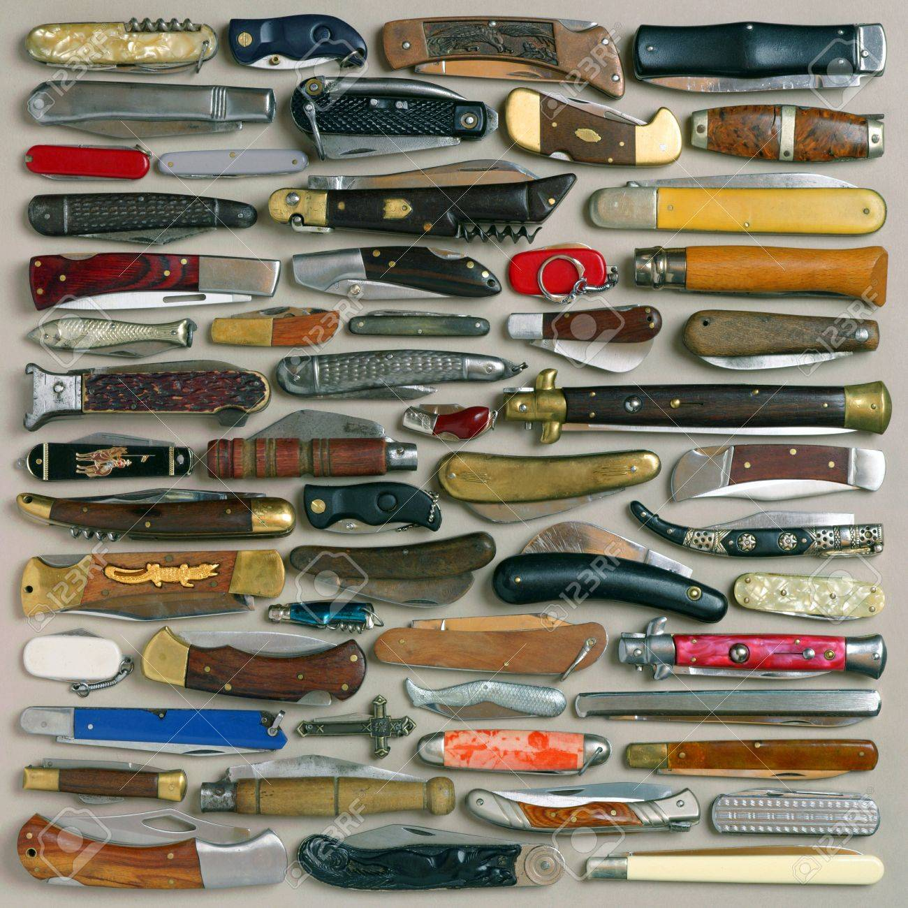 still life with collection of knives - 7556772