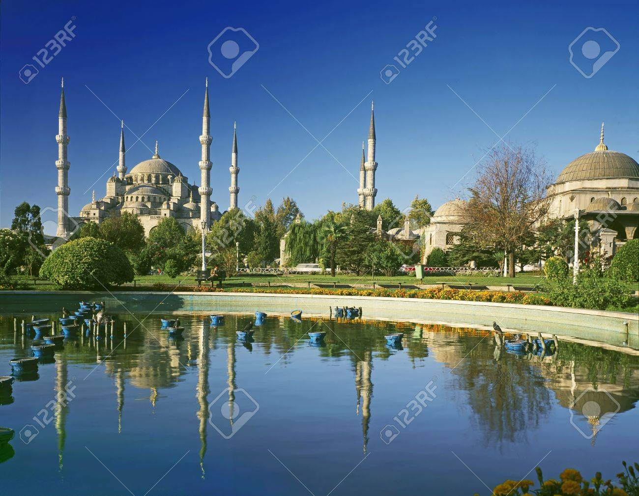 view to Blue mosque-Istanbul Turkey - 12450825