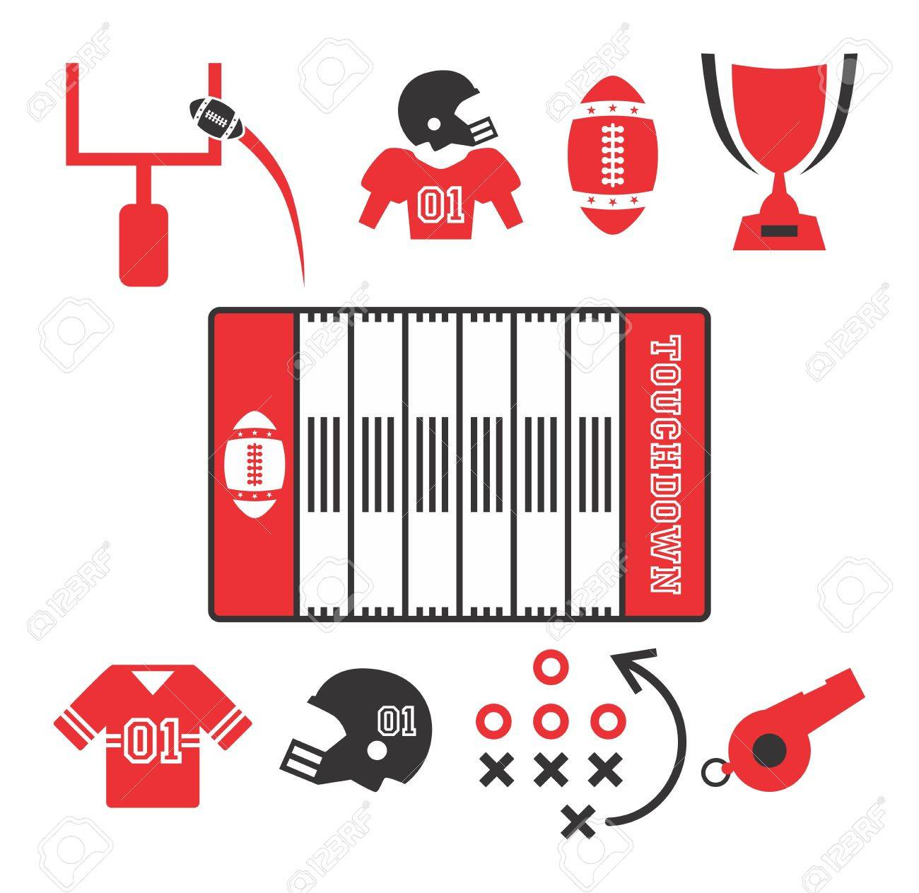 american football icon Stock Vector - 20221769