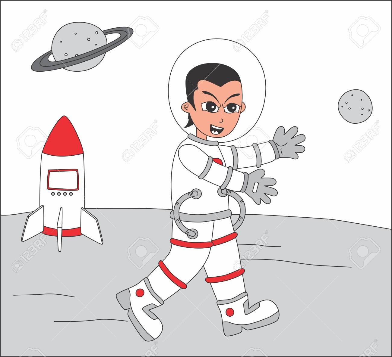 astronaut set happy Stock Vector - 20558576