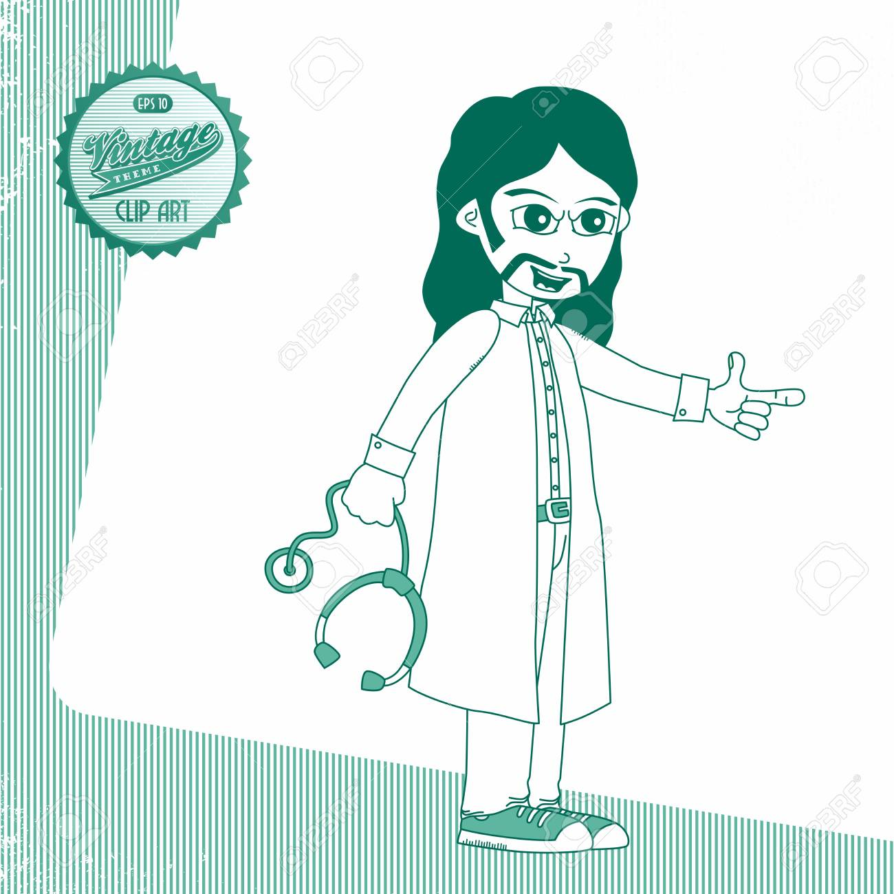 vintage page doctor rock Stock Vector - 20601043