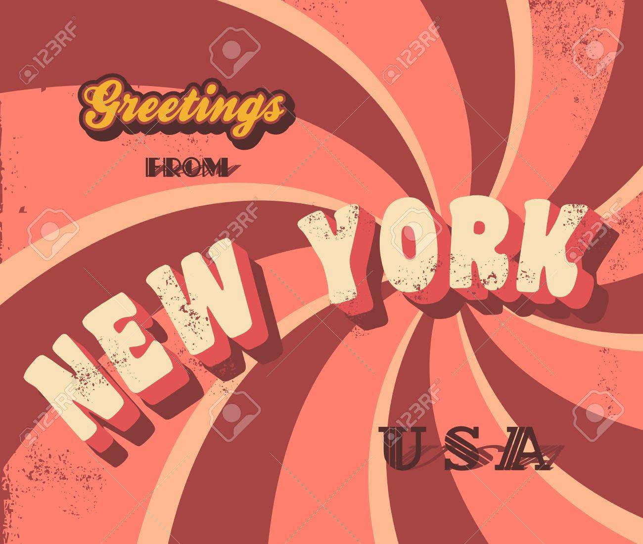 New York Greeting Sign Royalty Free Cliparts Vectors And Stock