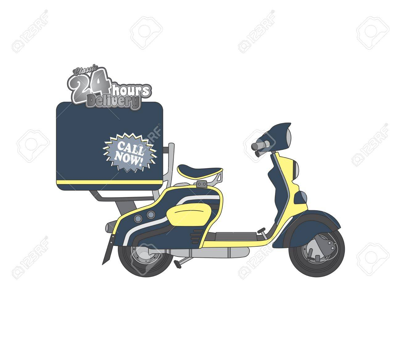 scooter delivery royalty free cliparts vectors and stock