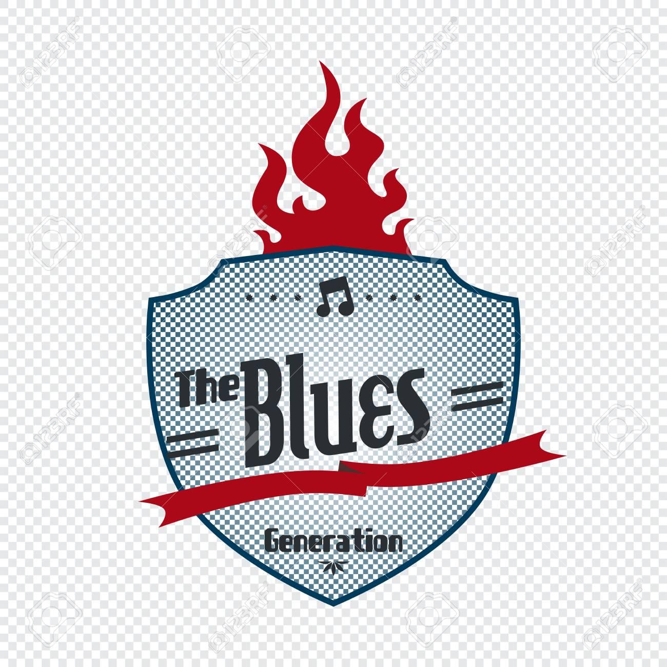 blues label Stock Vector - 21125908
