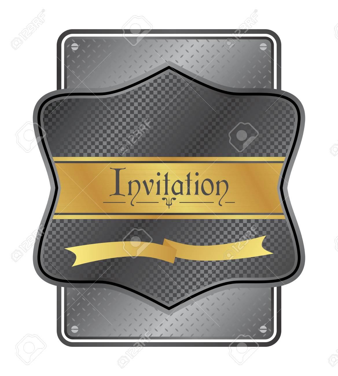 art invitation metallic Stock Vector - 21204958