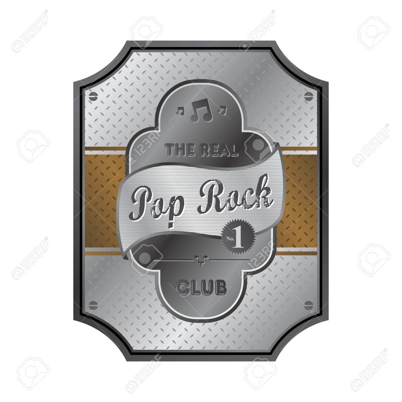 pop rock label Stock Vector - 22221870