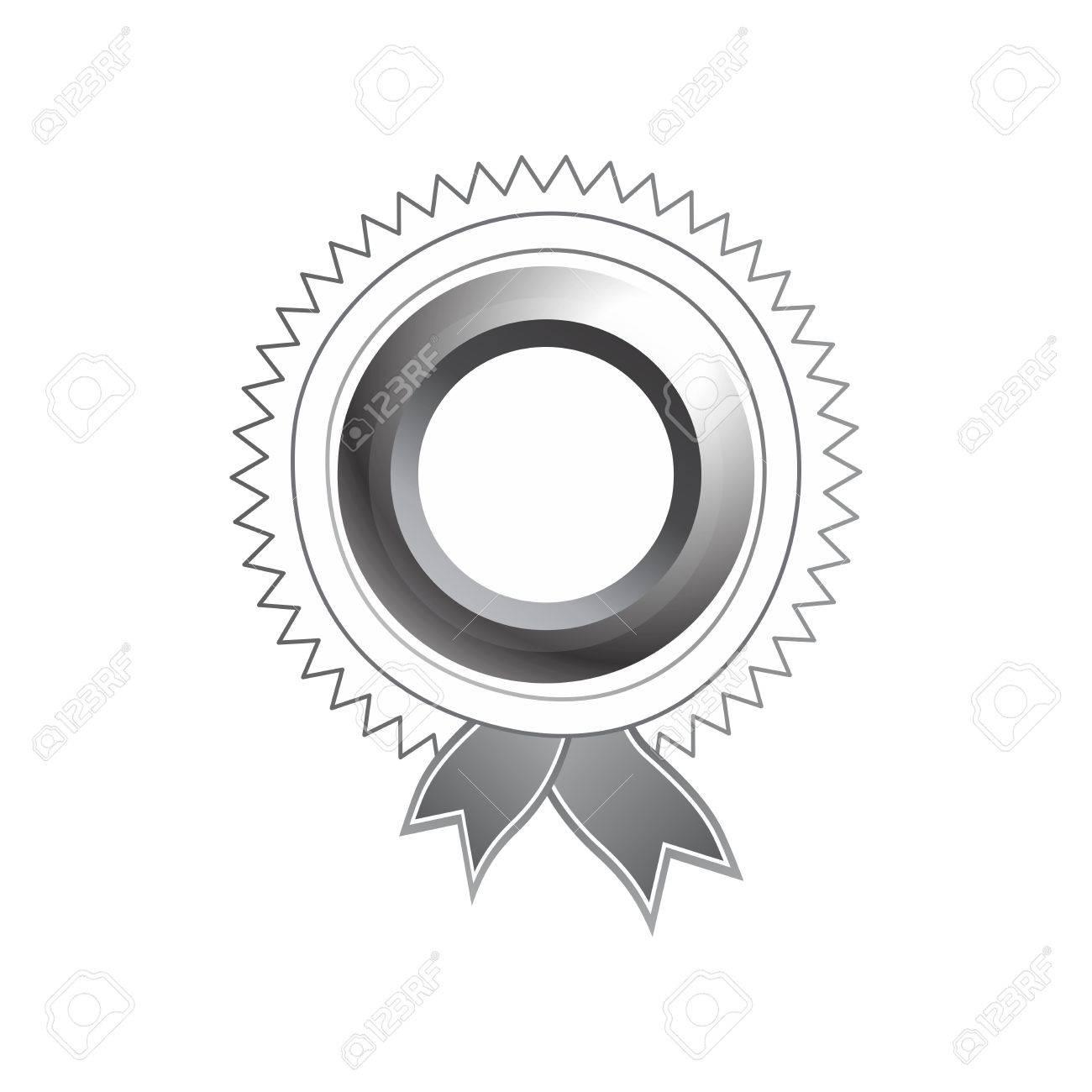 silver art label tag ribbon Stock Vector - 23098515