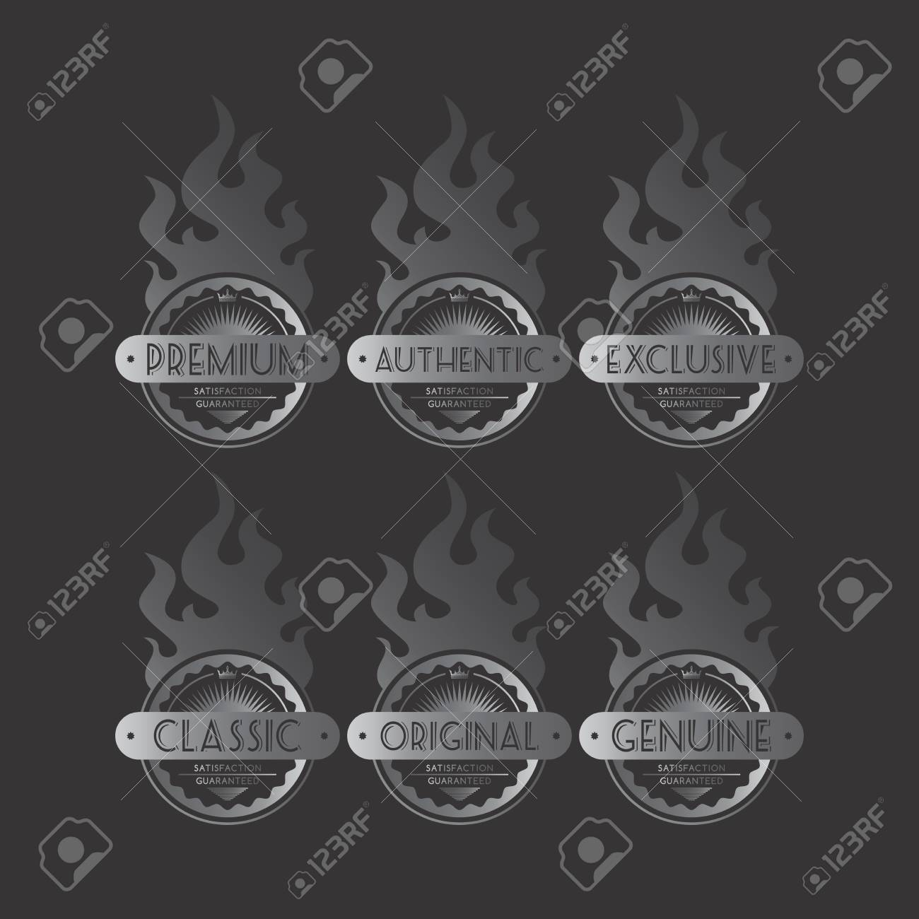 silver fire labels royalty free cliparts vectors and stock