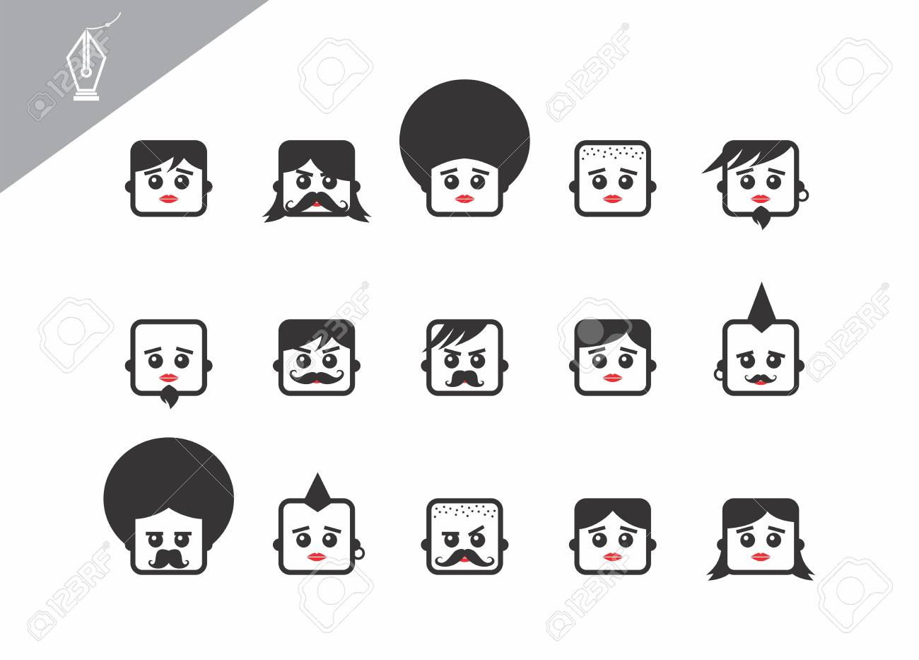 avatar portrait picture icon Stock Vector - 28108506