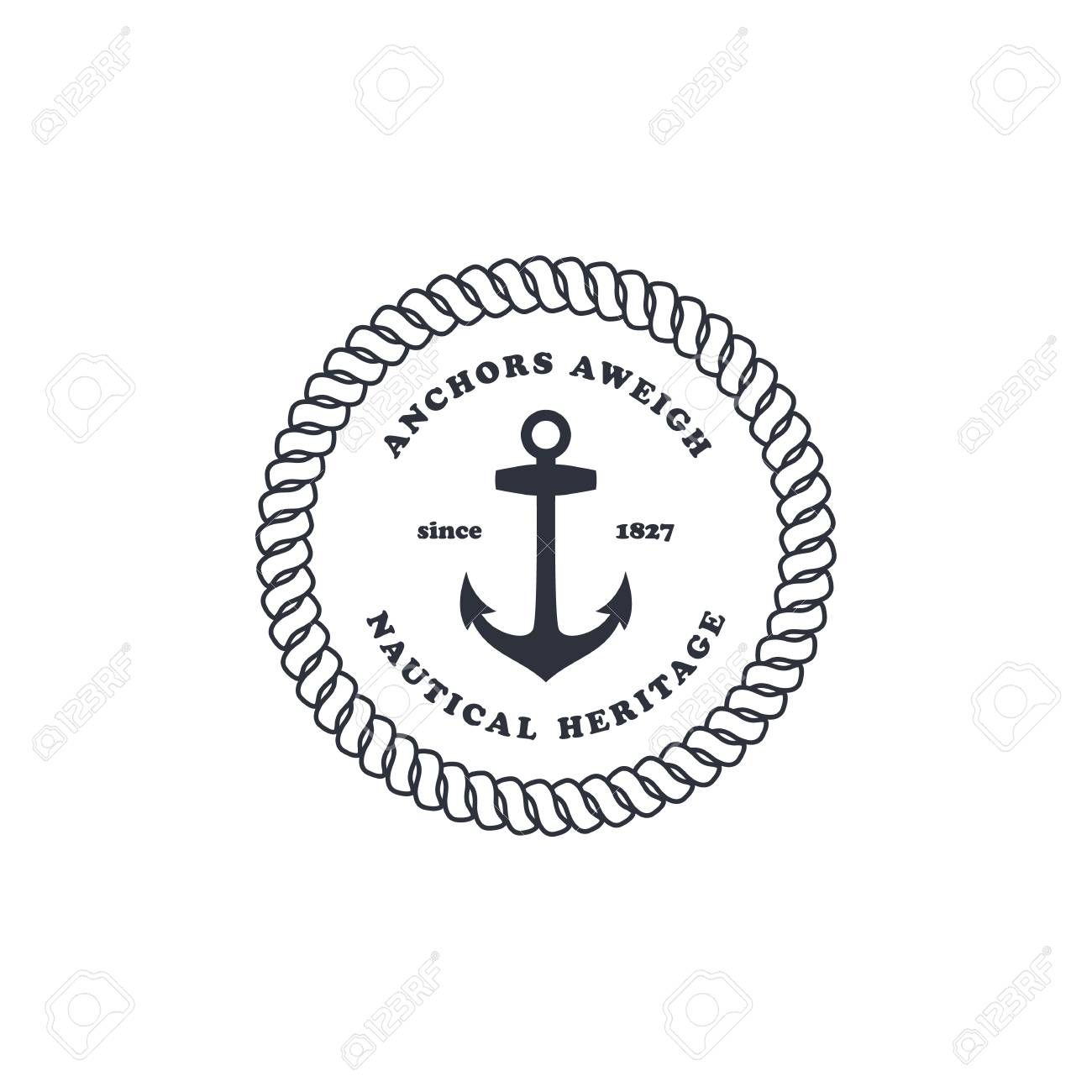 Sailor stock photos illustrations and vector art - Sailor Anchor Ocean Nautical Theme Vector Art Illustration Stock Vector 50308918