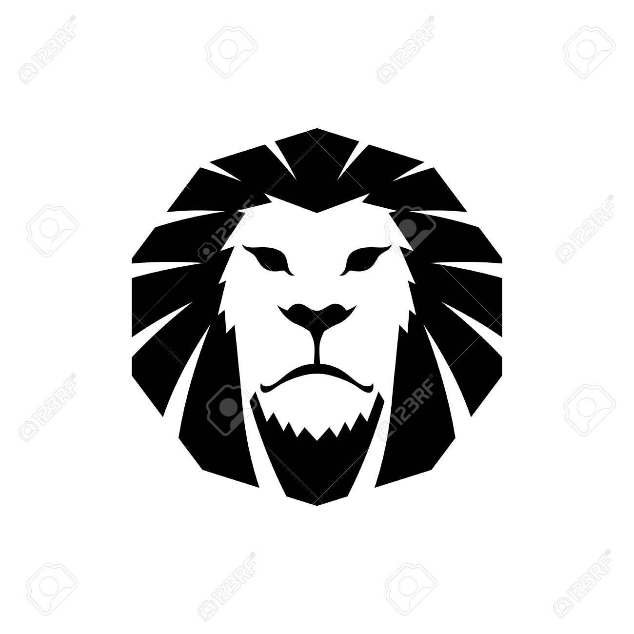 Lowenkopf Logo Vorlage Hand Gezeichnete Kreative