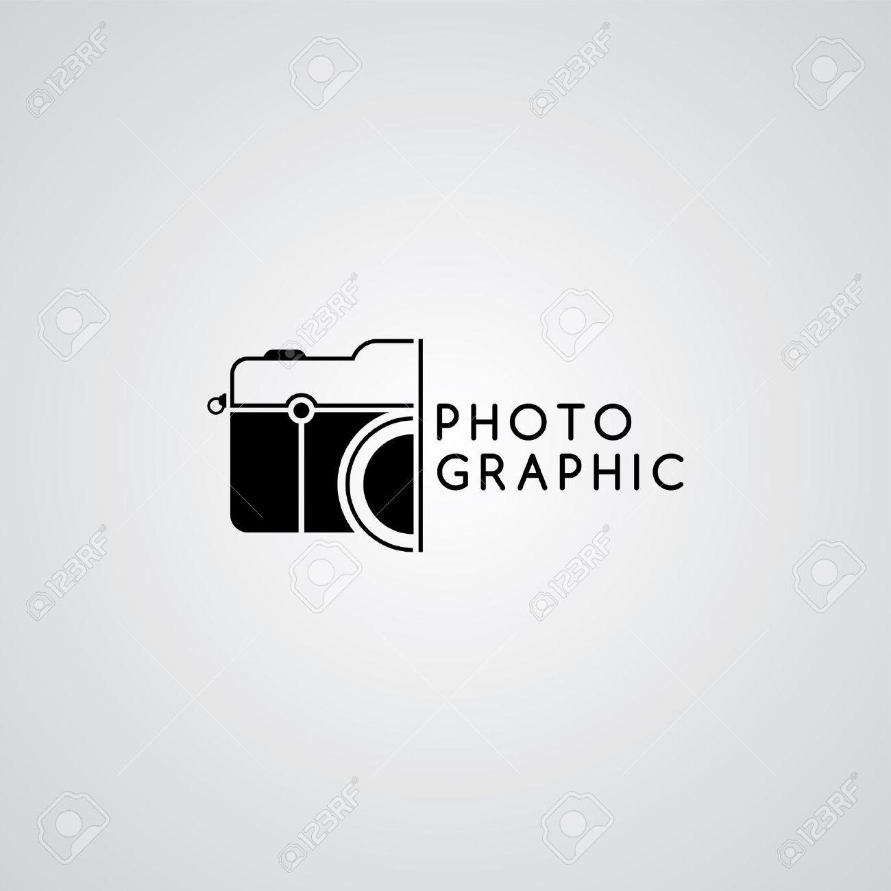 Camera Photography Logo Template Theme Vector Art Illustration ...
