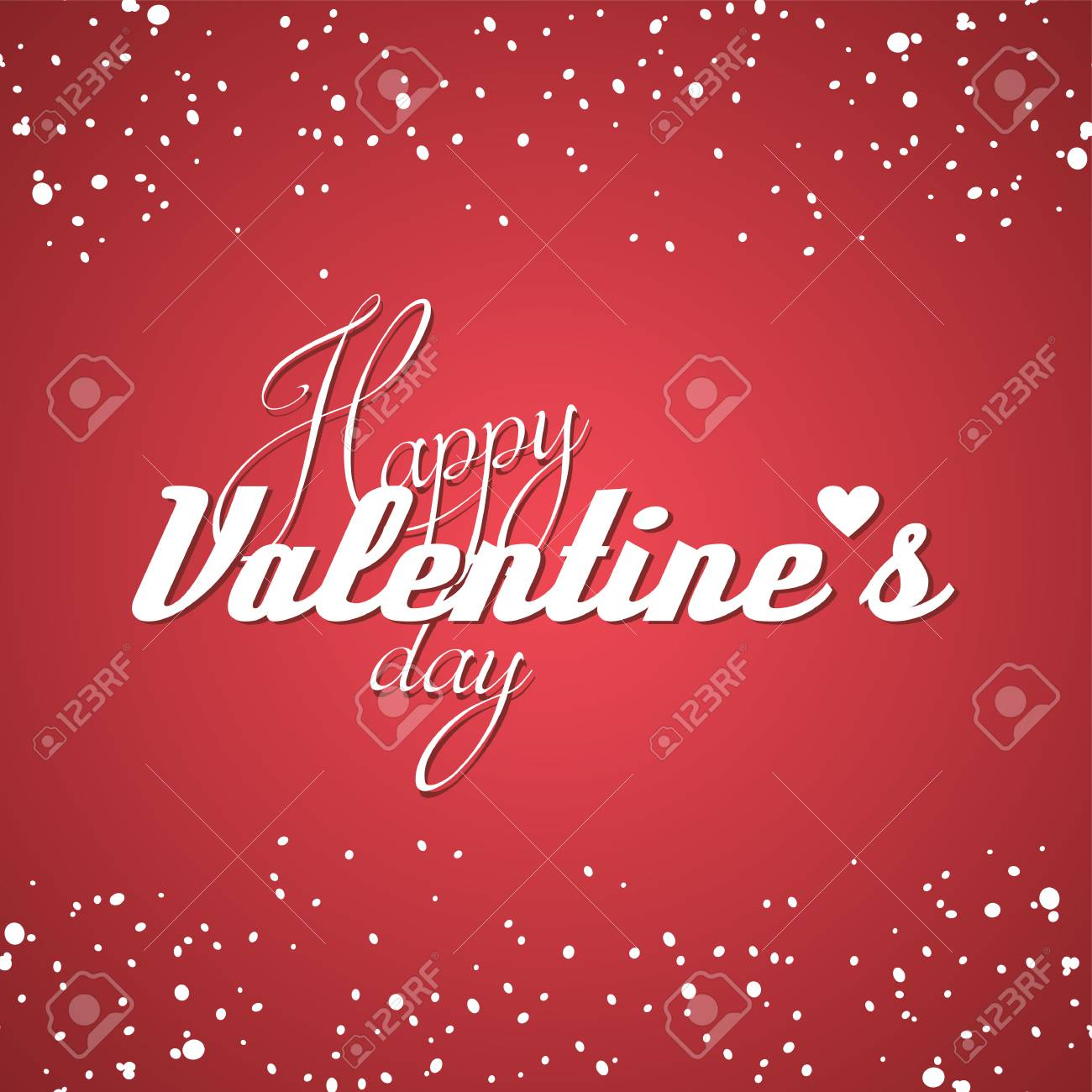 Happy Valentine Greetings Theme Vector Illustration Royalty Free