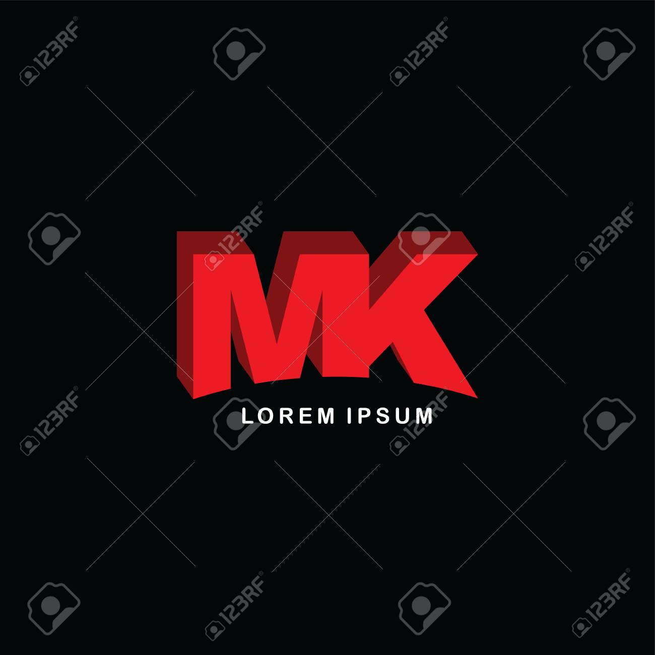 red block initial letter brand logo template logotype single color stock vector 74243428