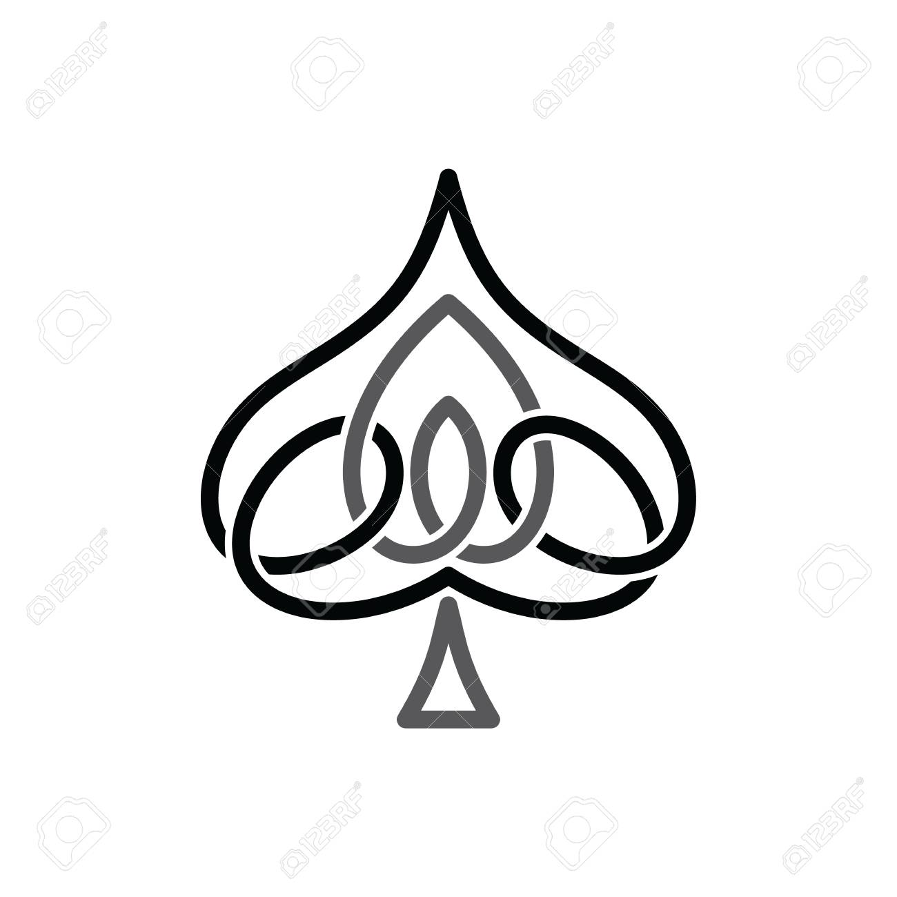 Celtic ace of spade overlapped black abstract floral concept celtic ace of spade overlapped black abstract floral concept logo logotype stock vector 74243535 biocorpaavc Choice Image
