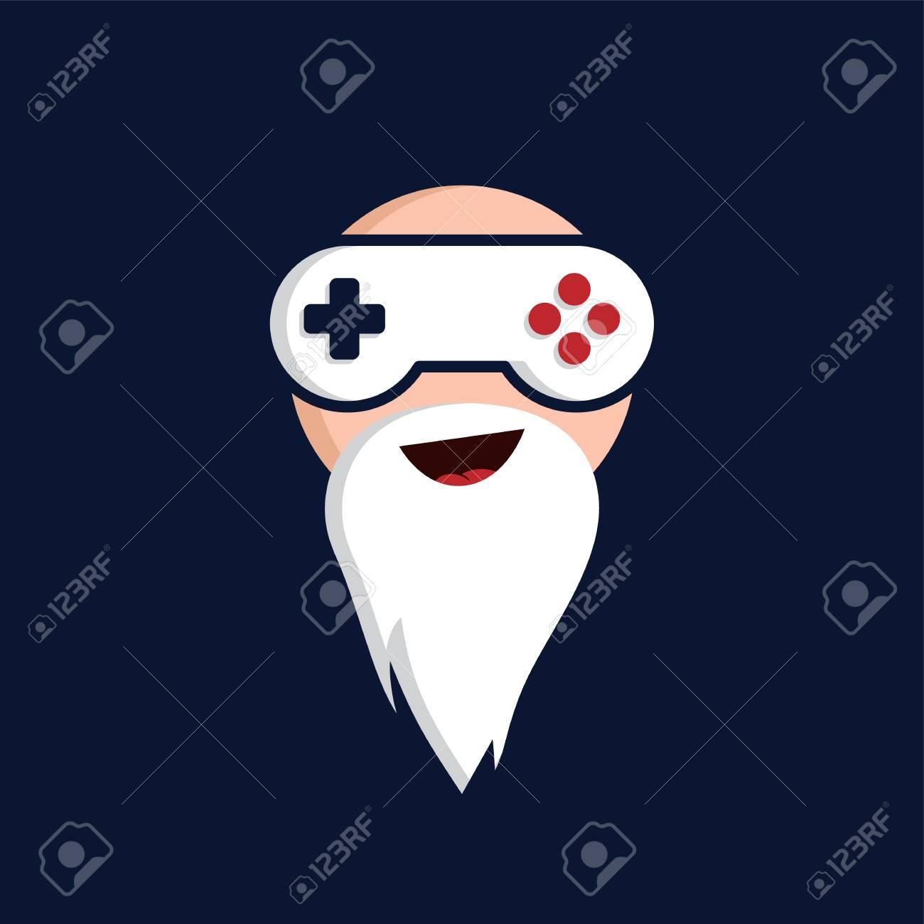 game guru - master gamer - video game theme logo - logotype vector