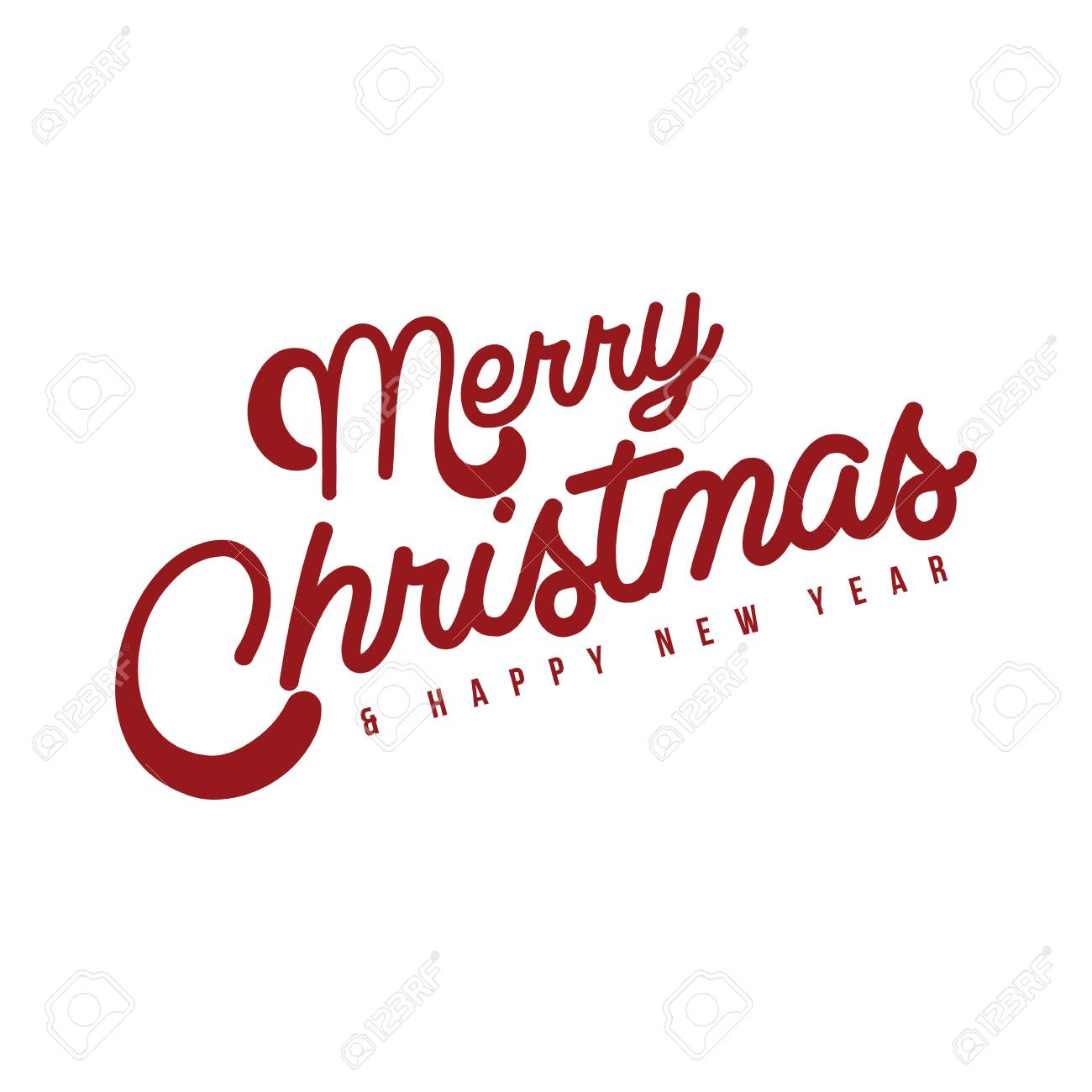 The Best Merry Christmas And Happy New Year Vector