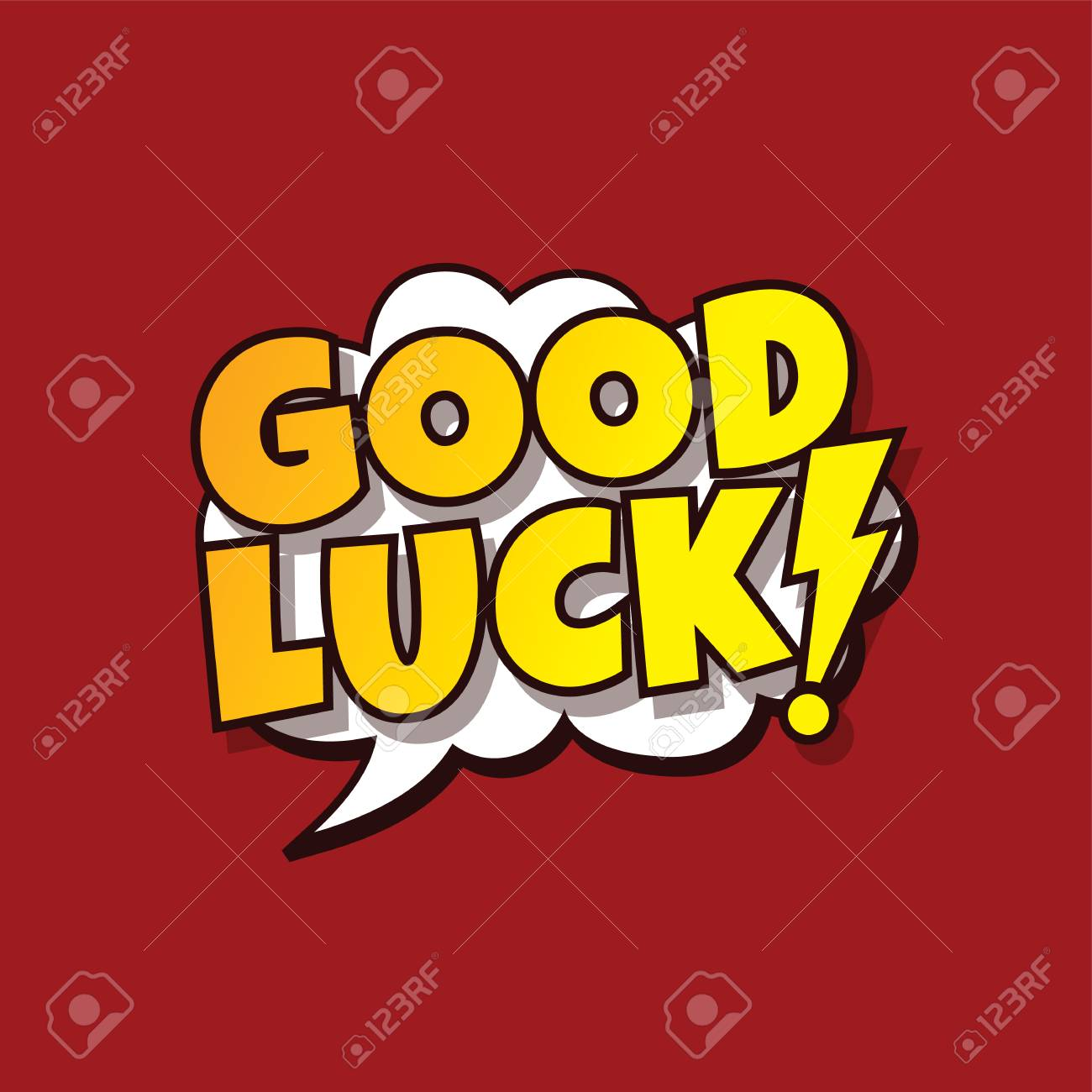 Cartoon good luck greeting vector art illustration royalty free cartoon good luck greeting vector art illustration stock vector 86626923 m4hsunfo