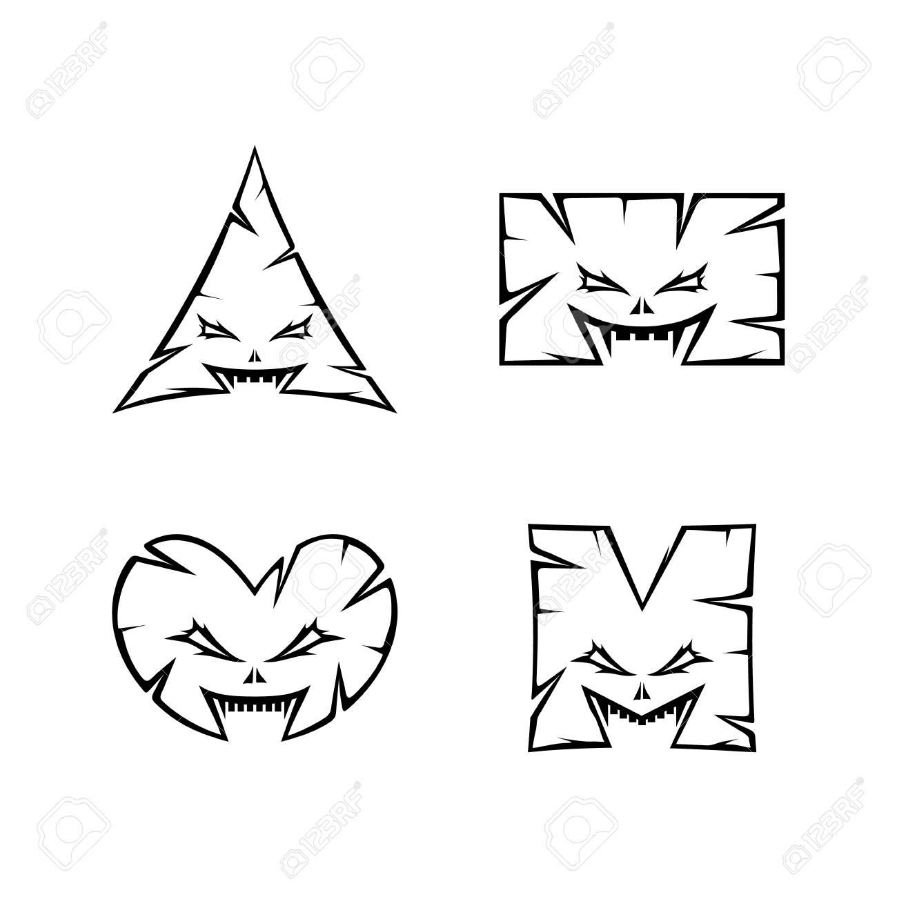 monster character sign symbol vector art - 106803757