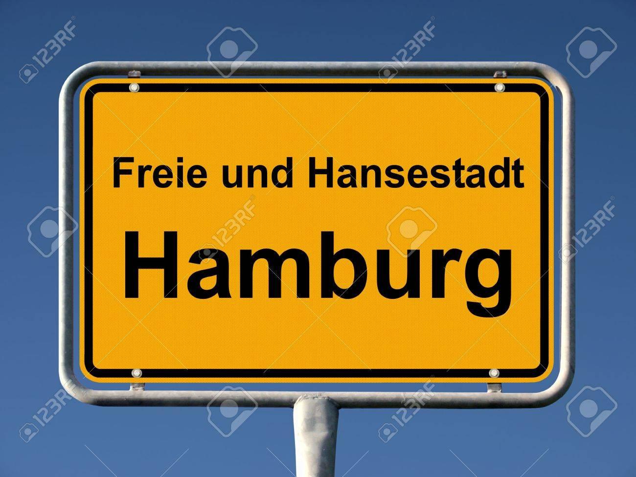 Common city sign of Hamburg, Germany Stock Photo - 7076177