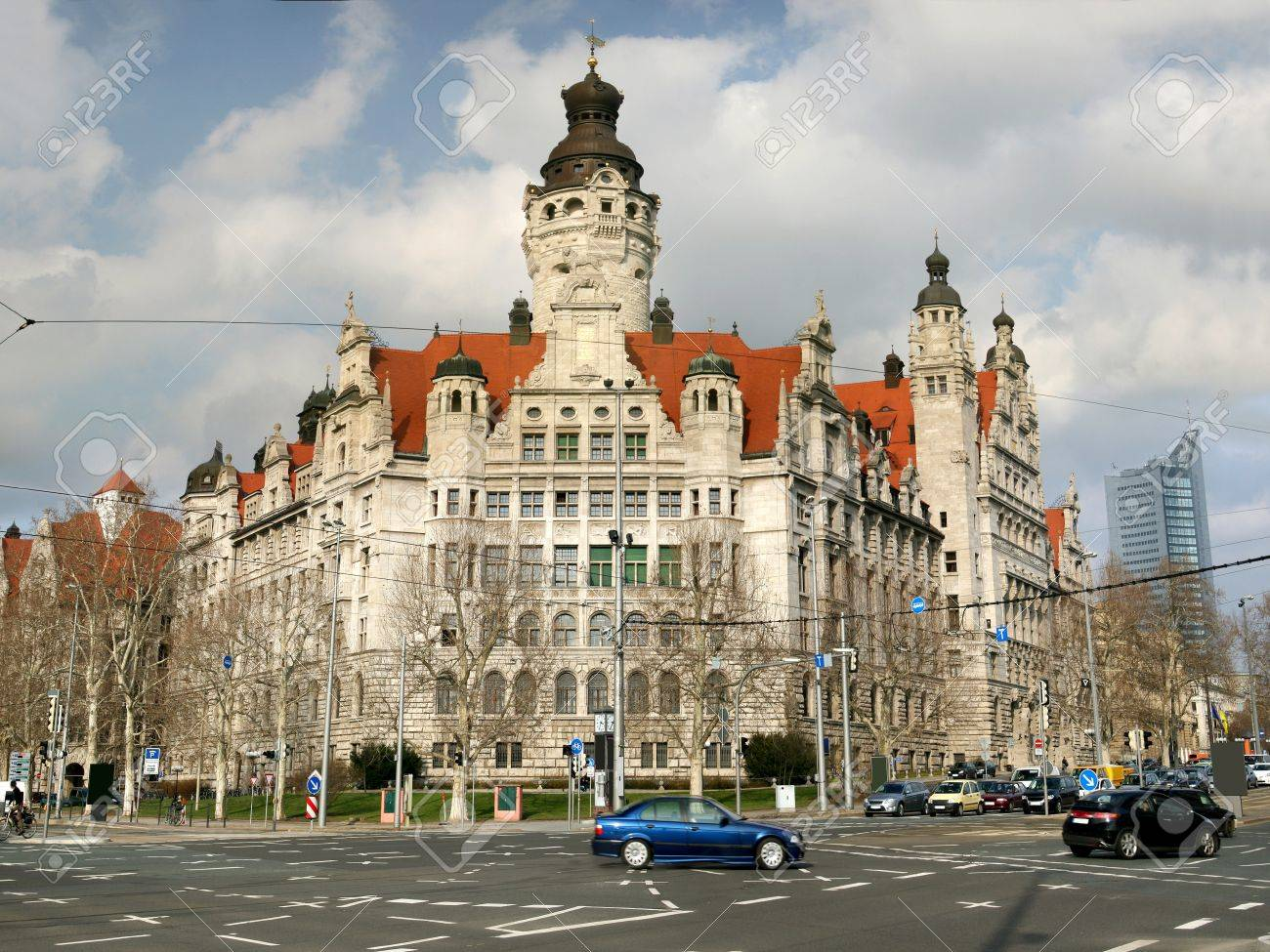 Neues Rathaus New Town Hall In Leipzig Germany Stock Photo Picture And Royalty Free Image Image 8665324
