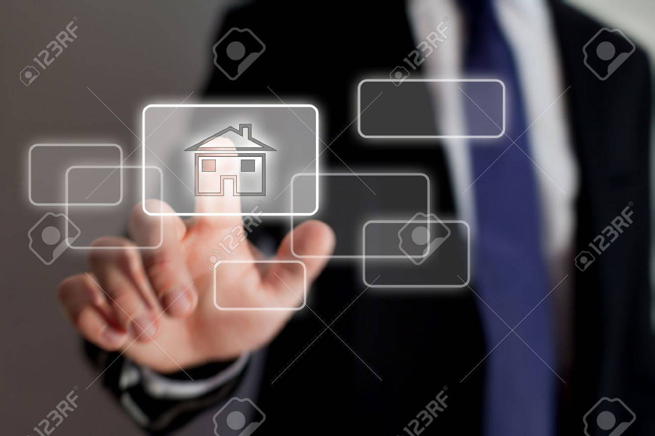 real estate online Stock Photo - 21649211