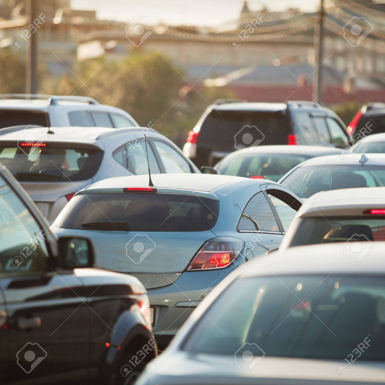 Traffic Jam in rush hour, cars on the road - 53084664