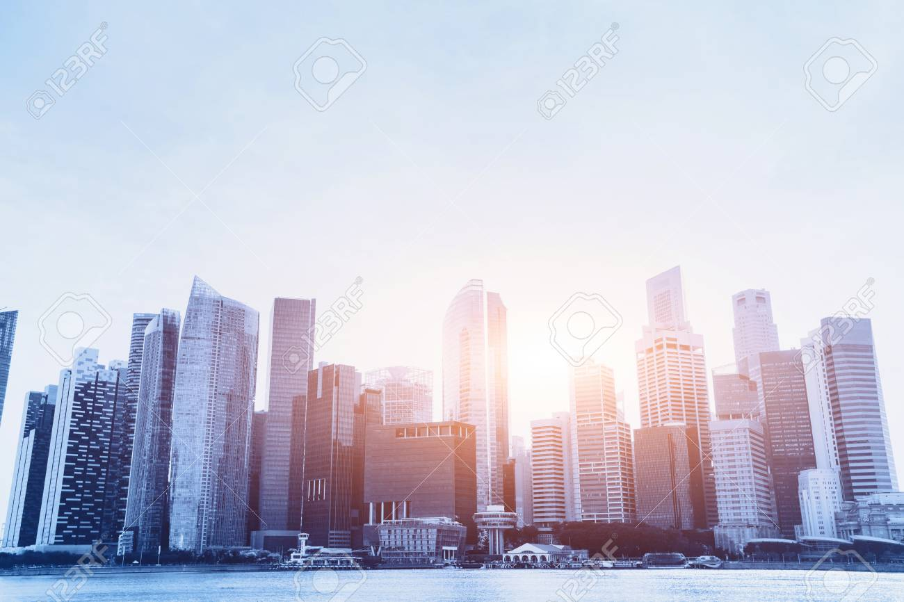 Modern City Beautiful Office Business Buildings Urban Background Stock Photo Picture And Royalty Free Image Image 77510323