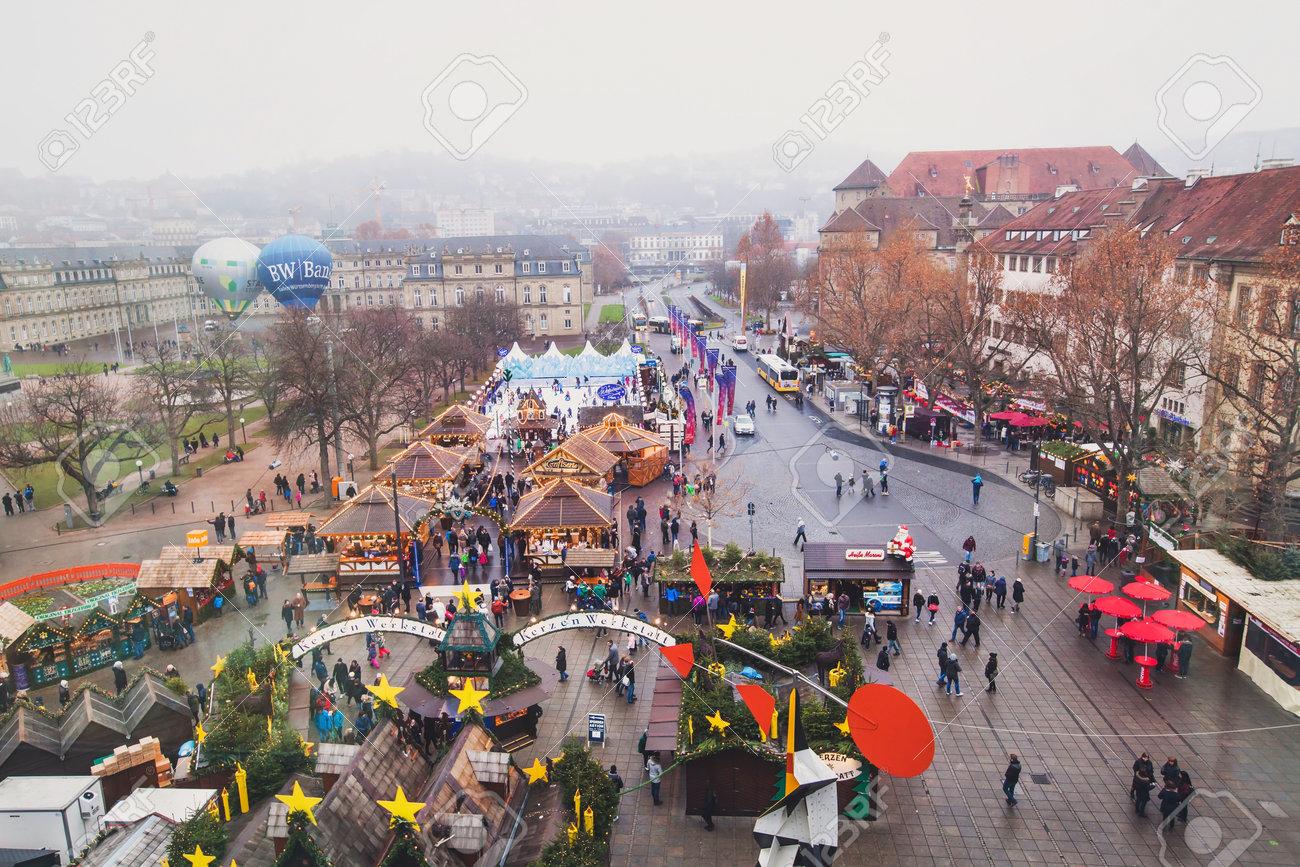 Christmas In Stuttgart Germany.Stuttgart Germany December 20 2016 Christmas Market Weihnachtsmarkt