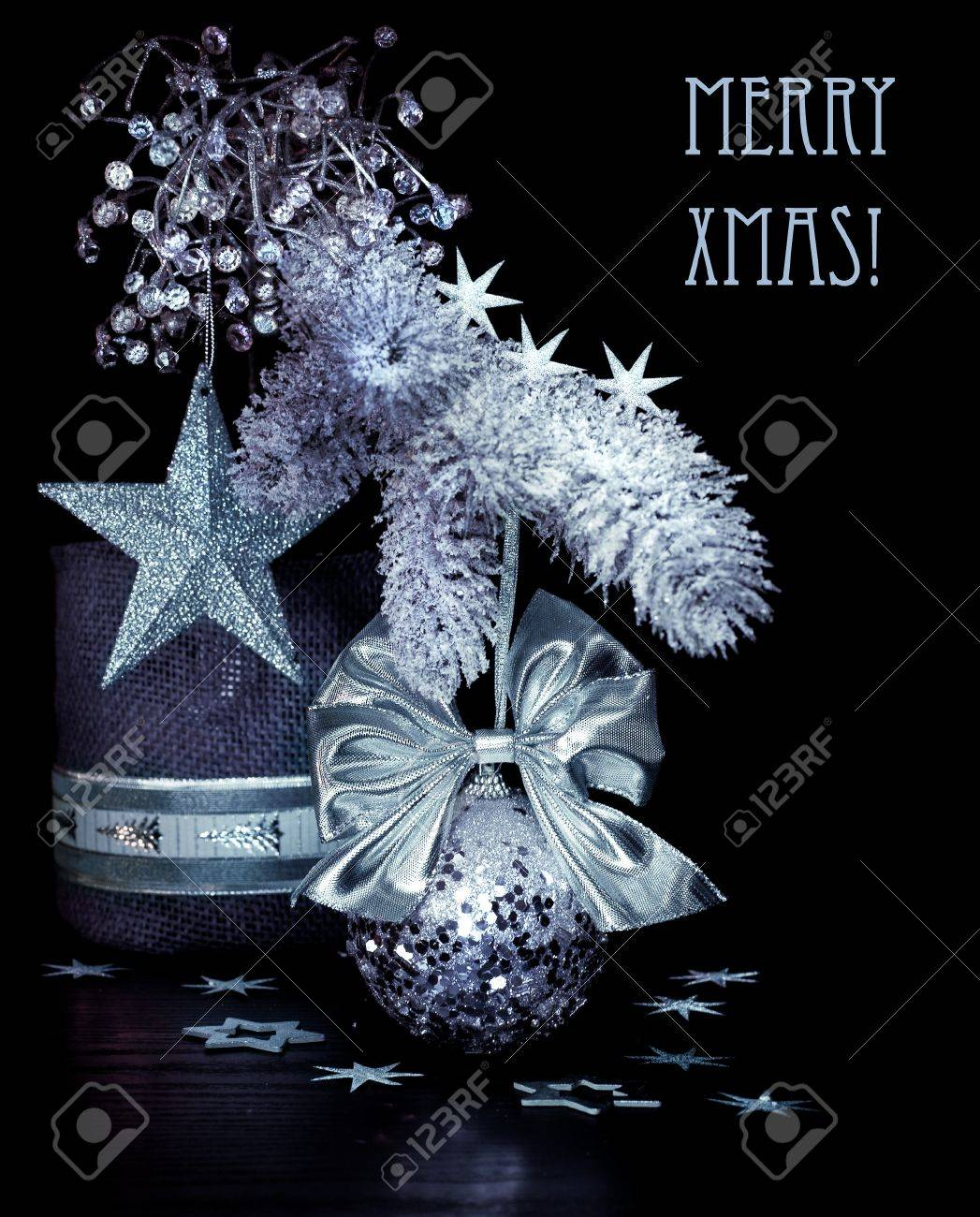 Excellent Christmas Table Decorations On Black Background Download Free Architecture Designs Scobabritishbridgeorg