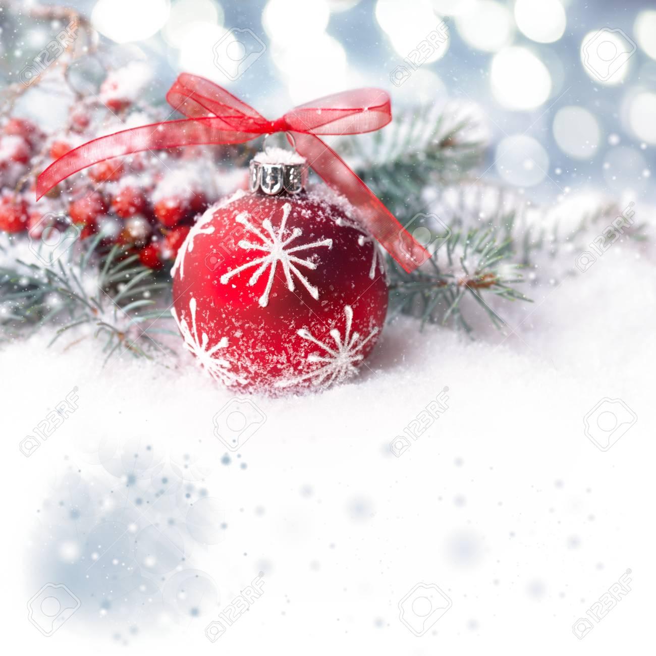 Weihnachten Hintergrund Mit Roten Blase Auf Show, Platz Für Ihre ...