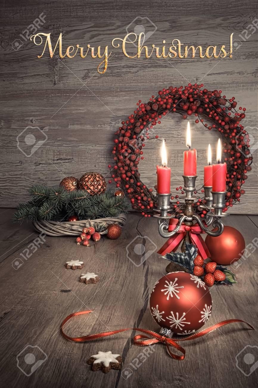 Immagini Natalizie Vintage.Decorazioni Natalizie Vintage Su Legno Questa Immagine E Tonica Testo Buon Natale