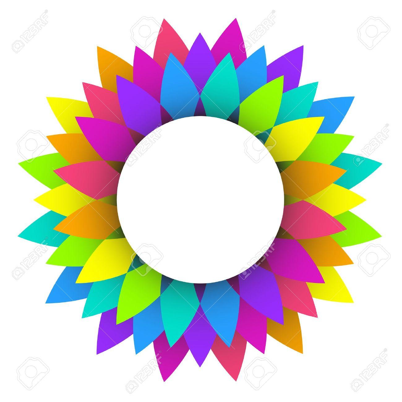 Flower Logo Design Vector Color Wheel Designs