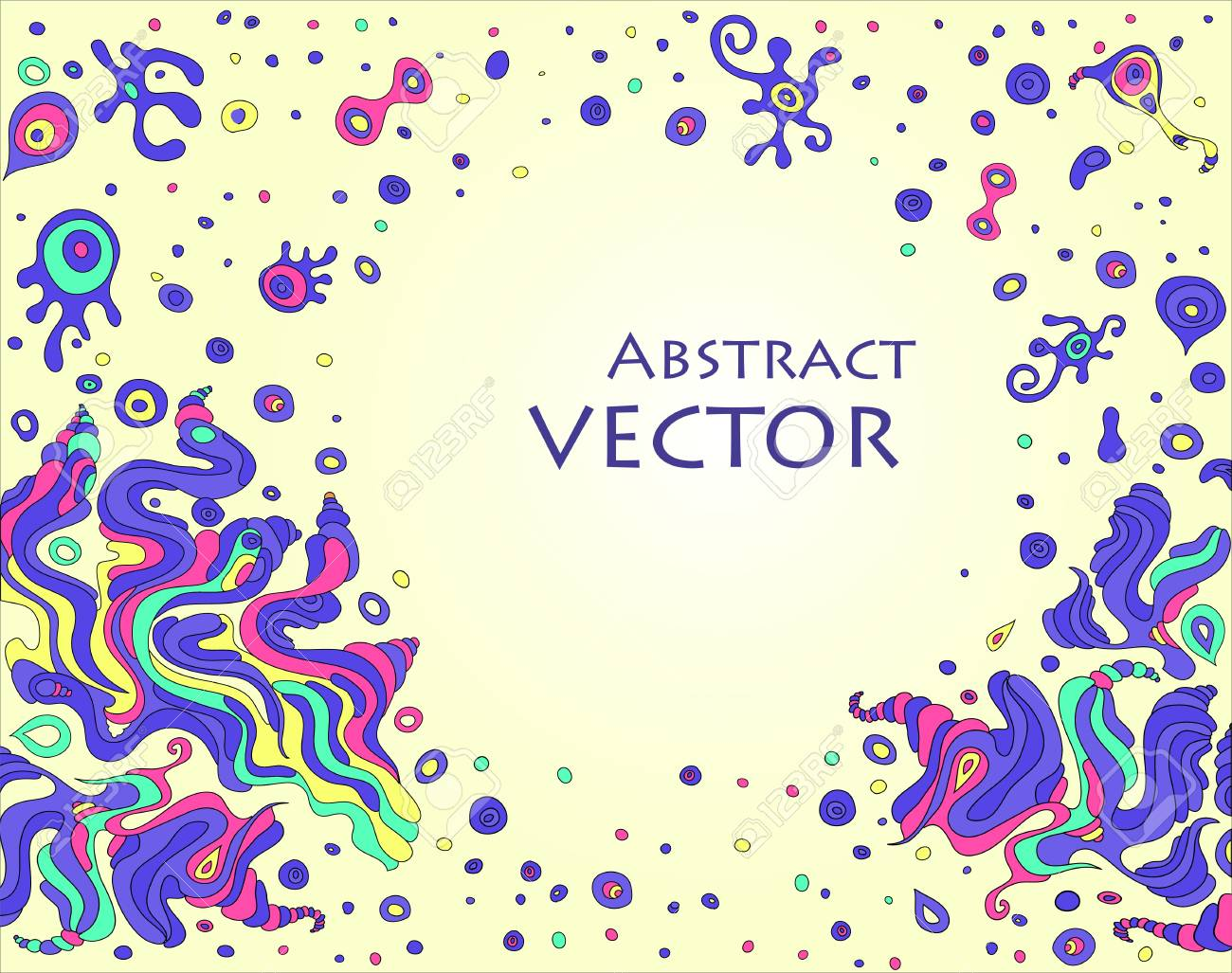 doodle background with space for your text Stock Vector - 12198994