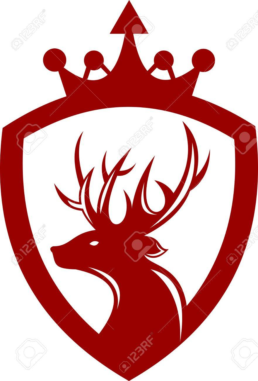 Logo King Deer Protection Royalty Free Cliparts Vectors And Stock