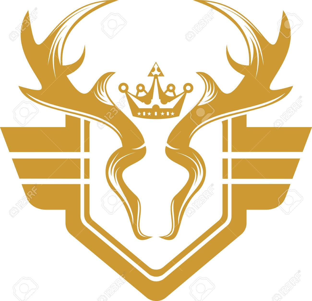 deer crest emblem logo royalty free cliparts vectors and stock