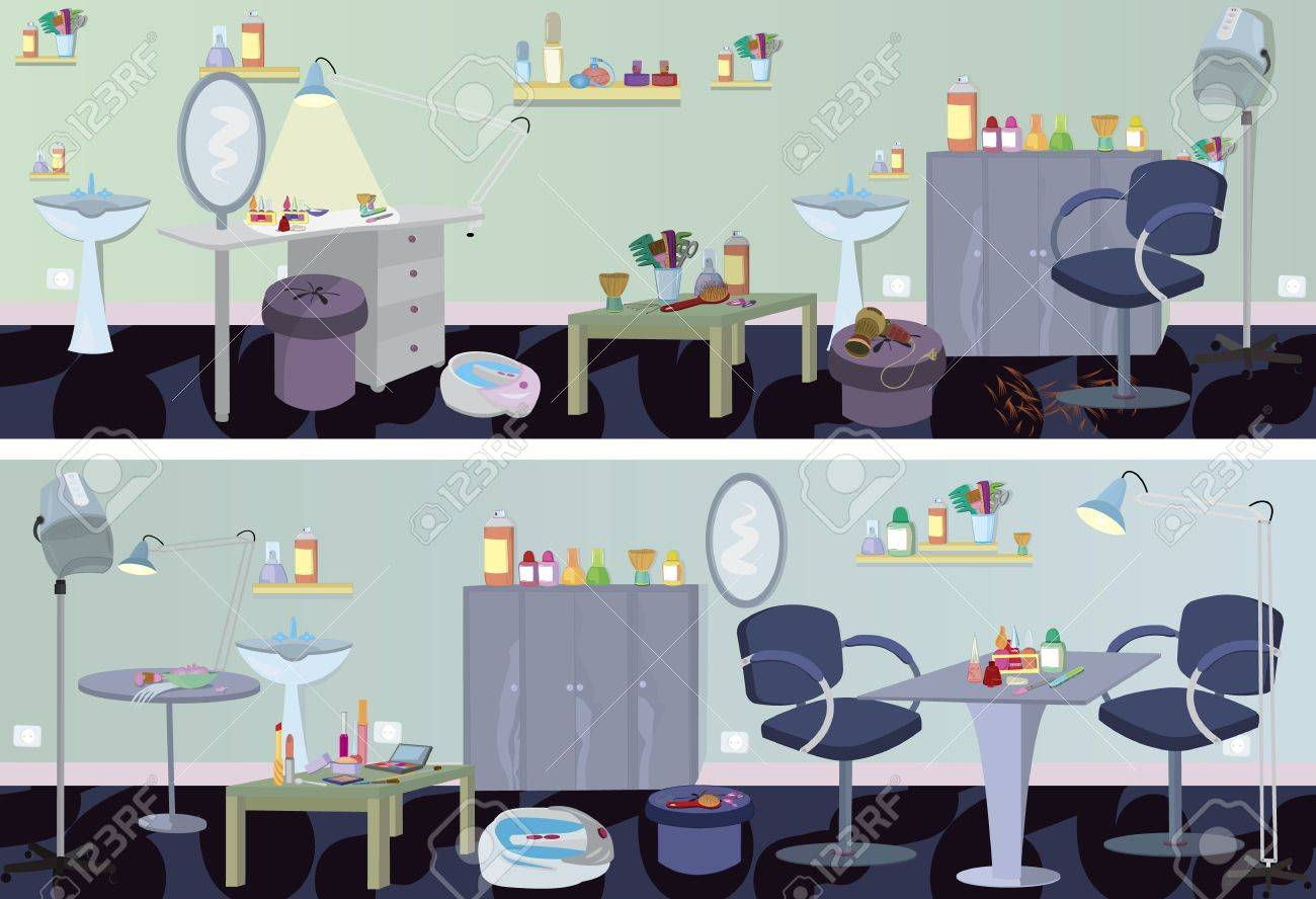 beauty salon banner furniture and appliances stock vector 11038878 beauty room furniture
