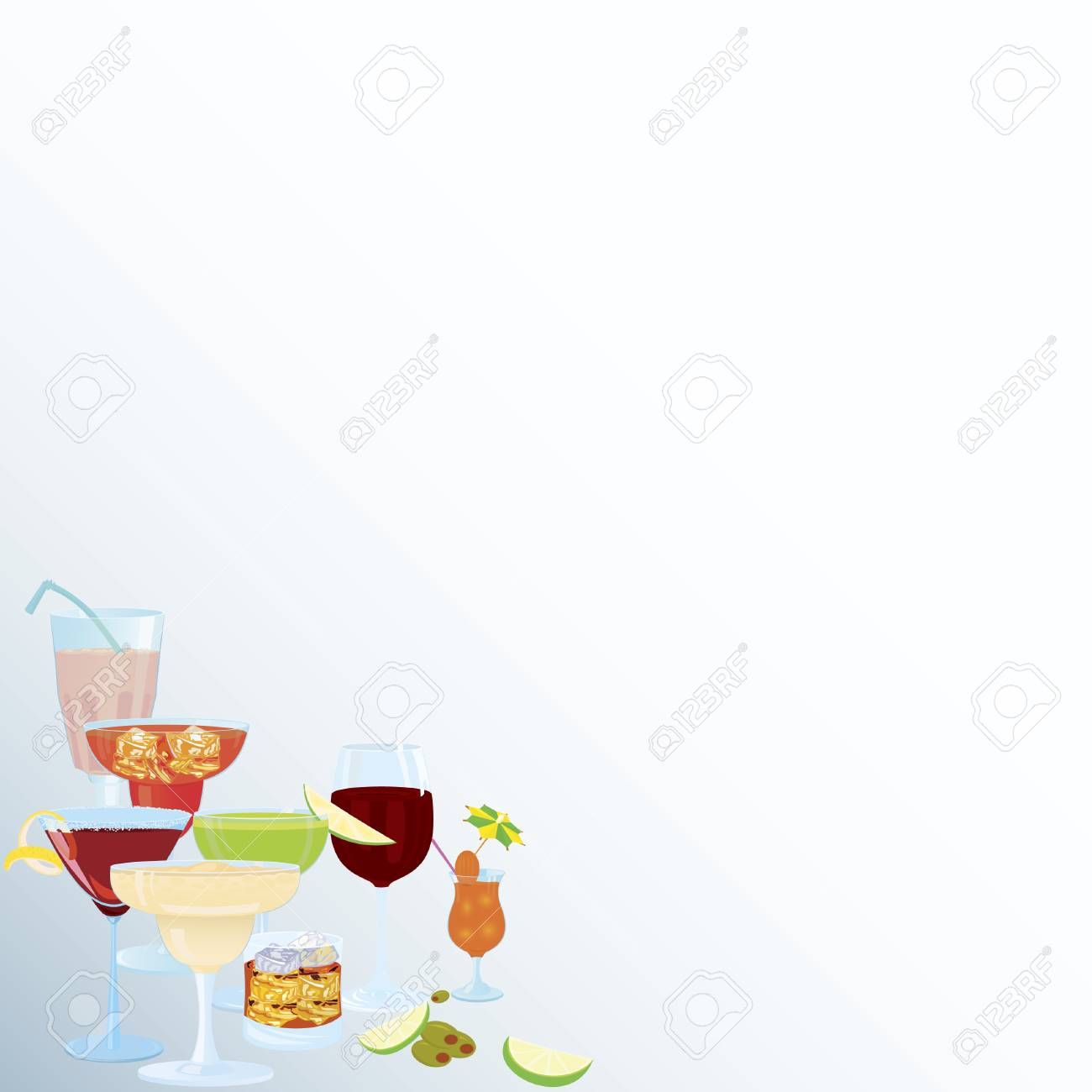 Vector illustration of cocktail corner decoration element Stock Vector - 12481254