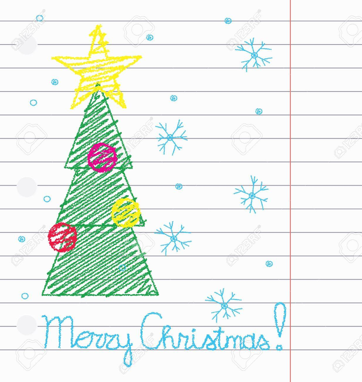 Lined christmas paper
