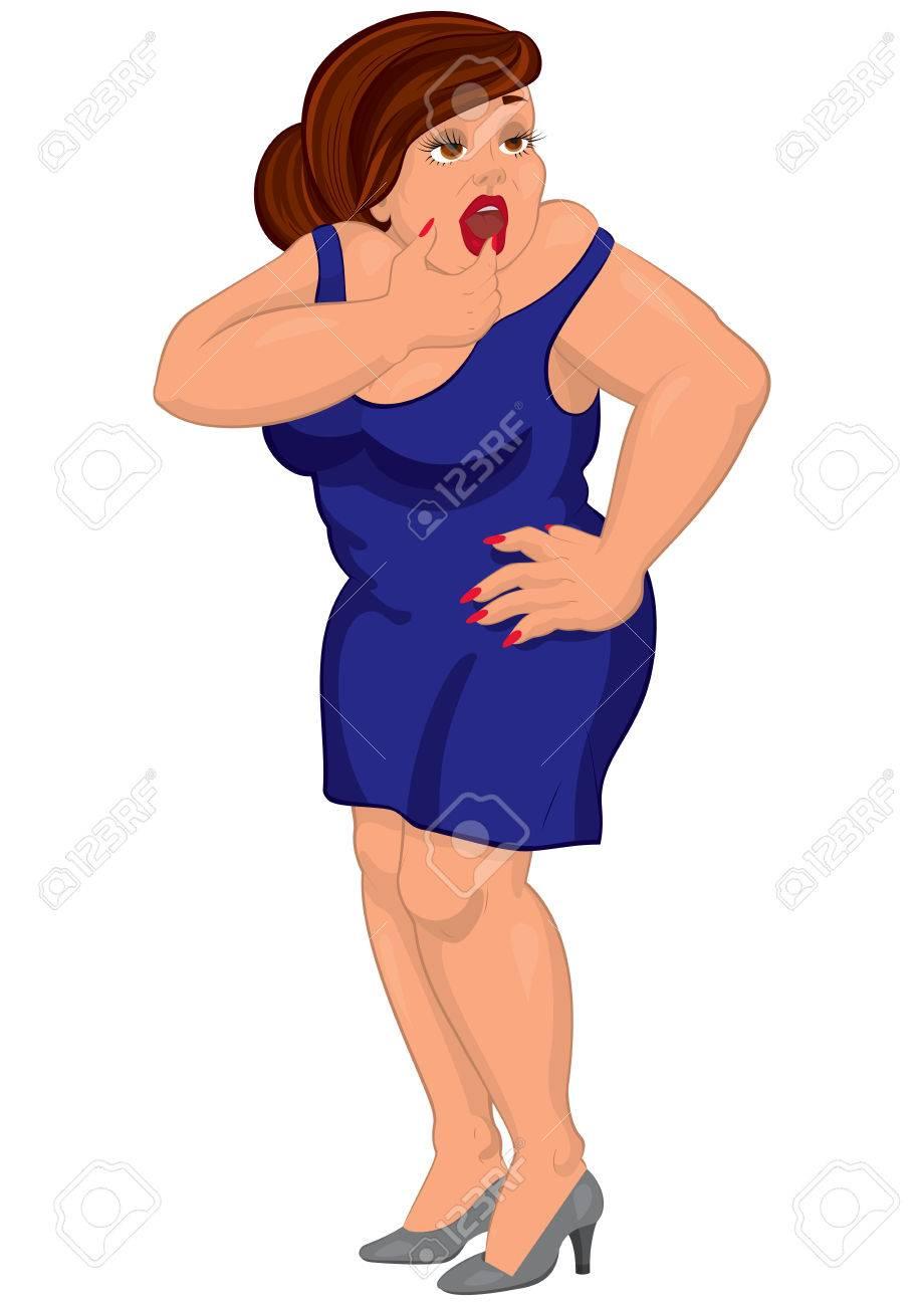 Vestido de mujer gorda