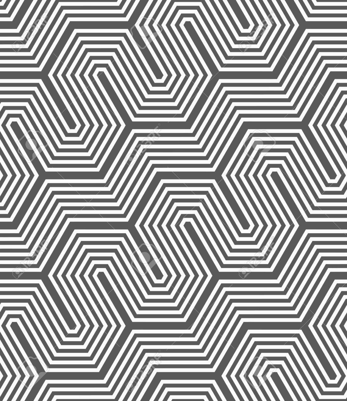 Motif Geometrique Seamless Dessin Geometrique Abstrait Gris Plat