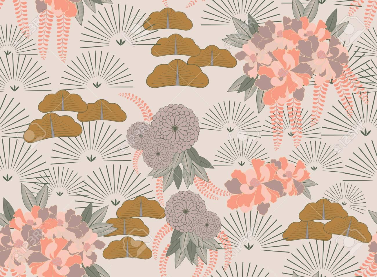 Jardin Japonais De Fleurs Rose Aster Arriere Plan Transparent