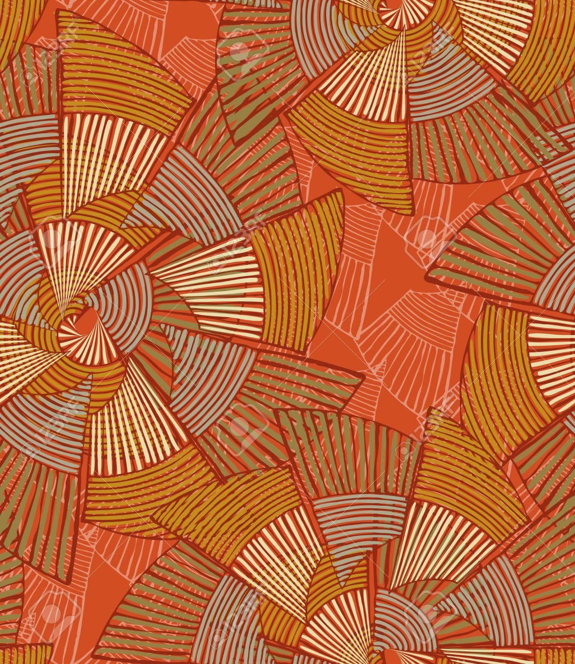 Pinwheels A Rayas Naranja Grande. Mano Dibujada Con Tinta De Fondo ...