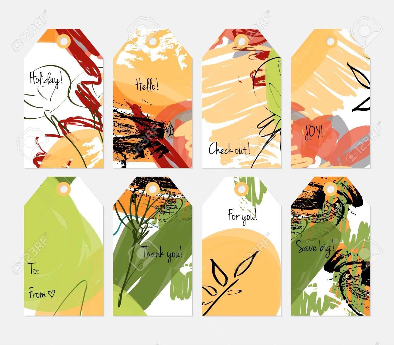 Hand drawn creative tags  Universal shopping, sales, advertising,
