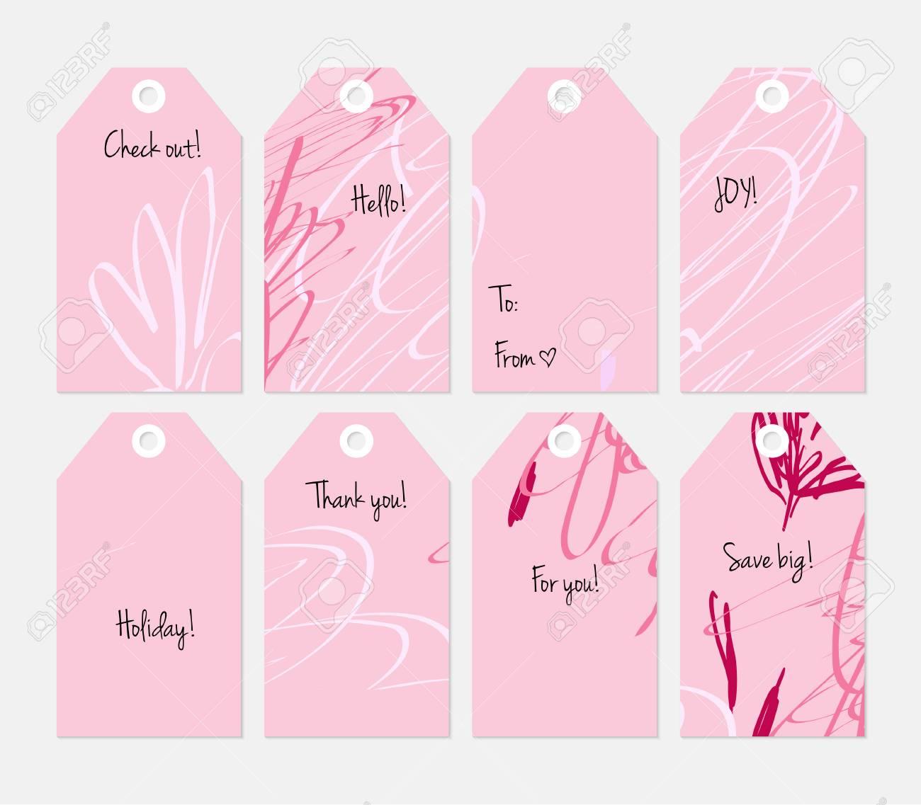 Hand Drawn Creative Tags Universal Shopping Sales Advertising
