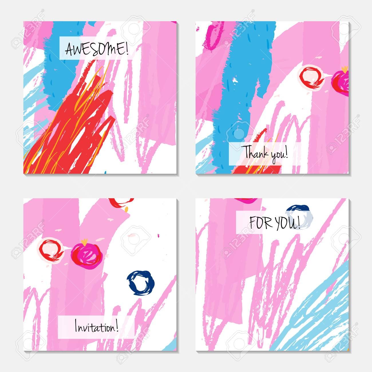 Hand Drawn Creative Universal Invitation Greeting Card Template
